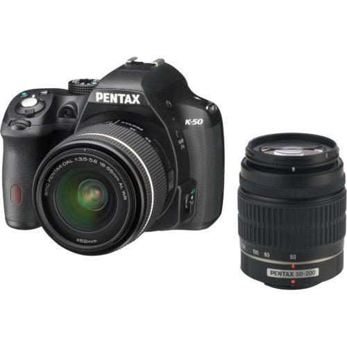 Comprar Camara Pentax K-50 Kit 18-55 WR + 50-200 WR Black al mejor precio en Andorra